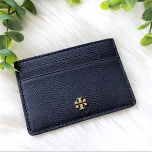TORY BURCH • NAVY EMERSON CARD CASE